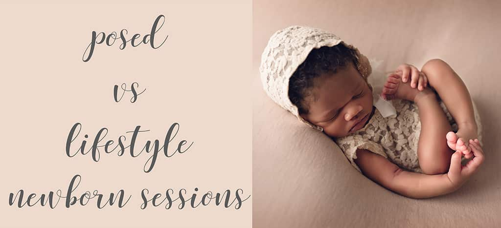 posed newborn blog title header by newborn photographer in Baton Rouge