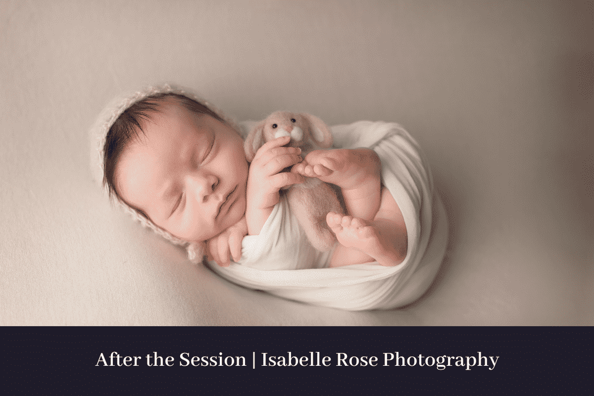 wrapped newborn in white baton rouge premier newborn photography