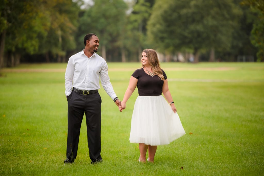 Outdoor Baton Rouge Engagement Session Photos | Brittany & Herman