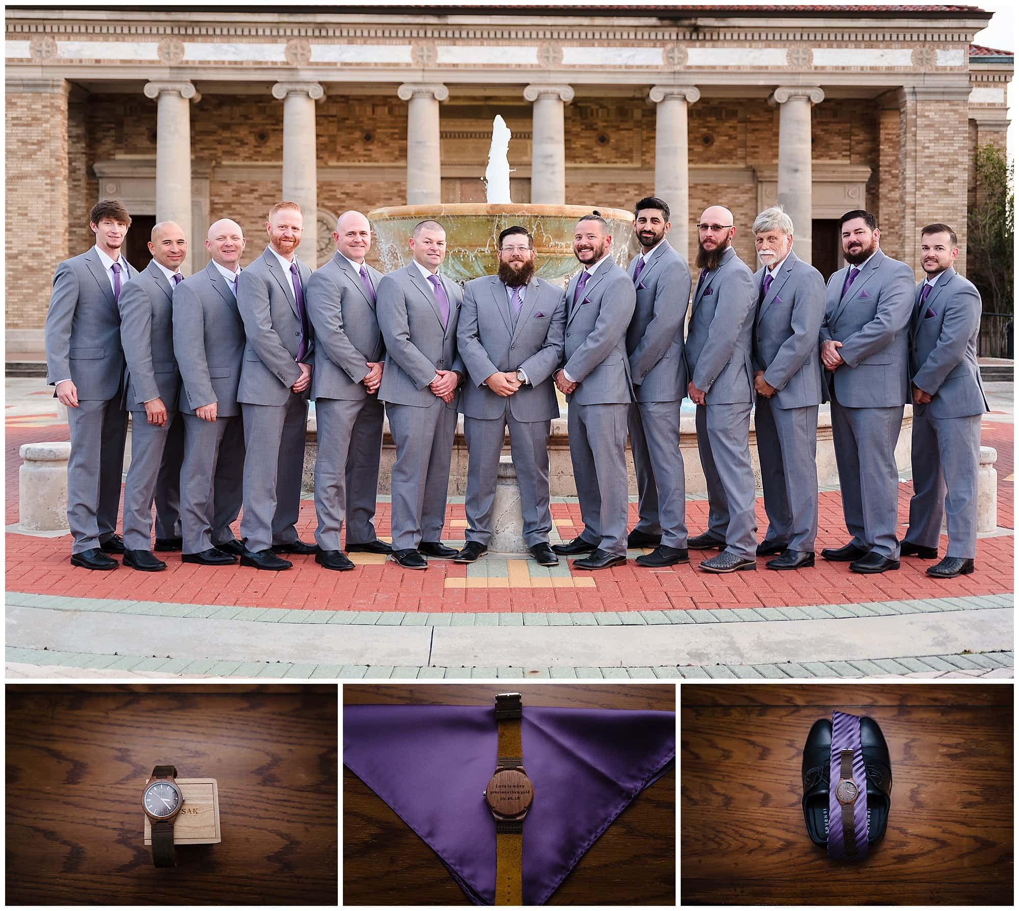 Groomsmen and groom's watch and shoes