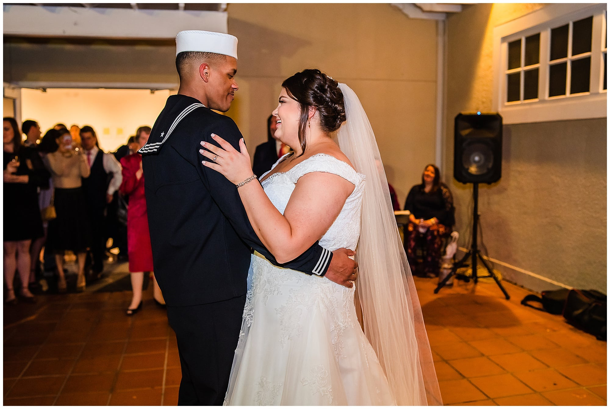 bride and groom first dance at Baton Rouge gallery venue
