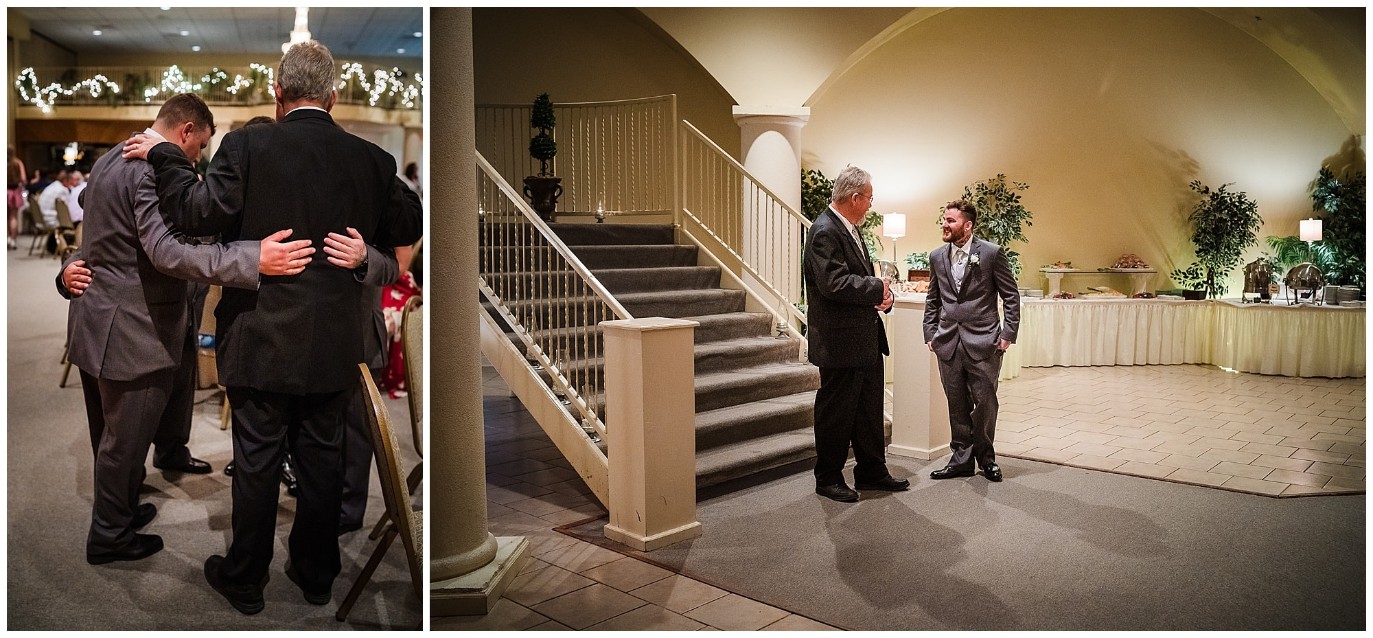 praying and waiting for the ceremony at Cypress Columns Louisiana wedding venue