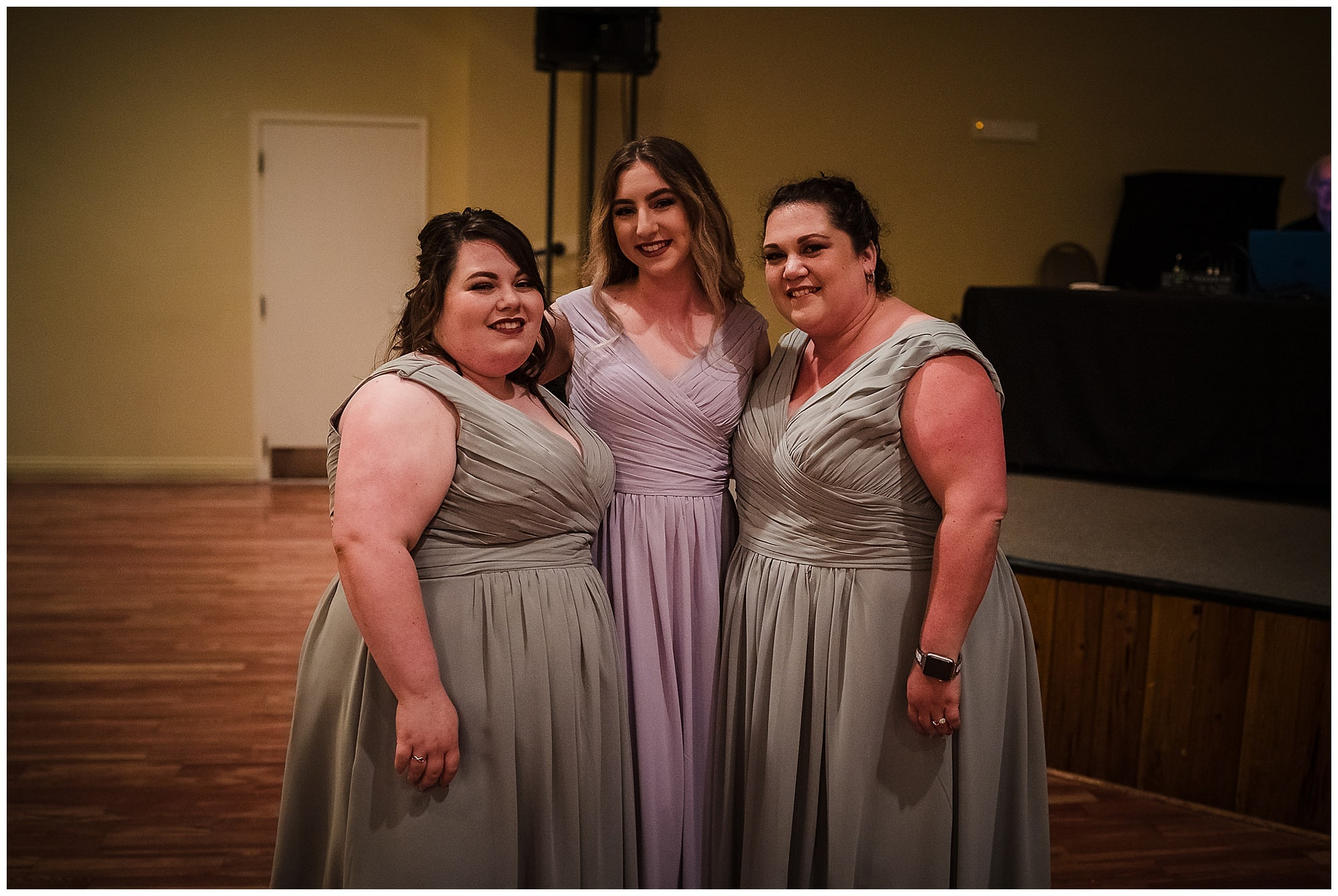 bridesmaids at Cypress Columns Louisiana wedding venue
