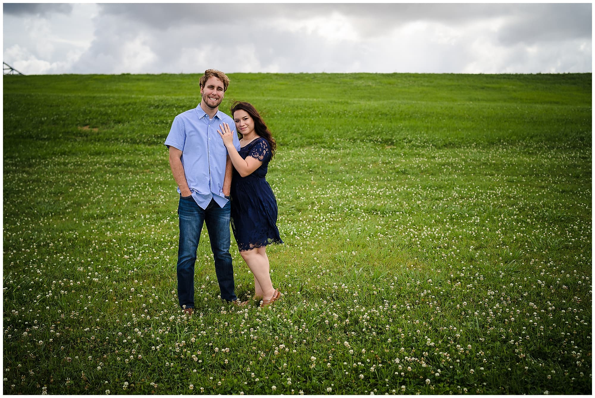 couple standing in field in downtown New Orleans