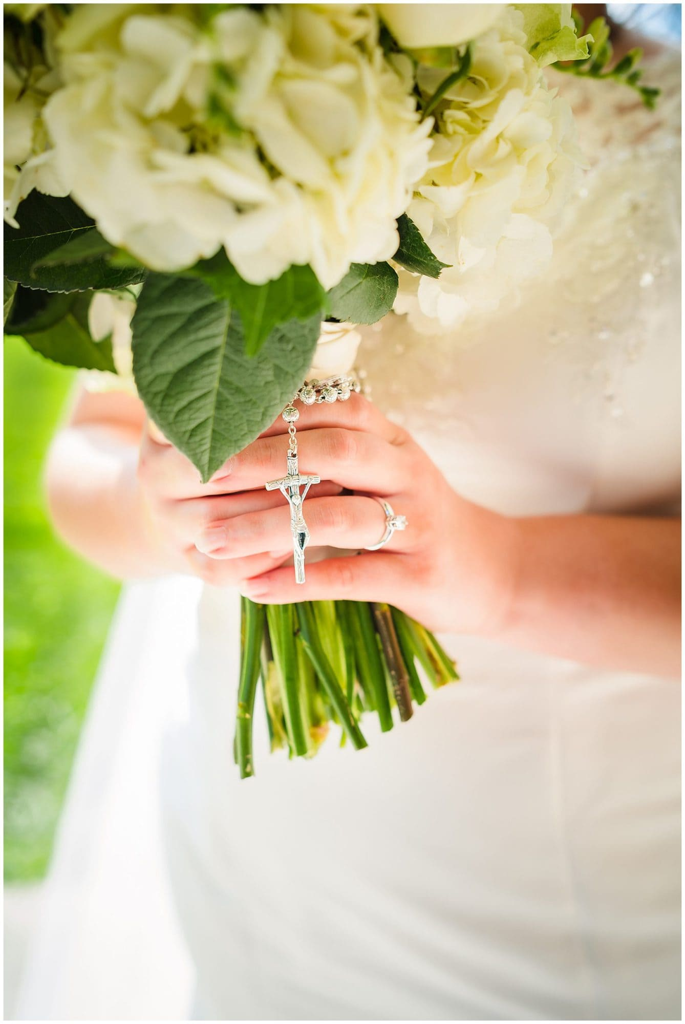 bouquet and rosary