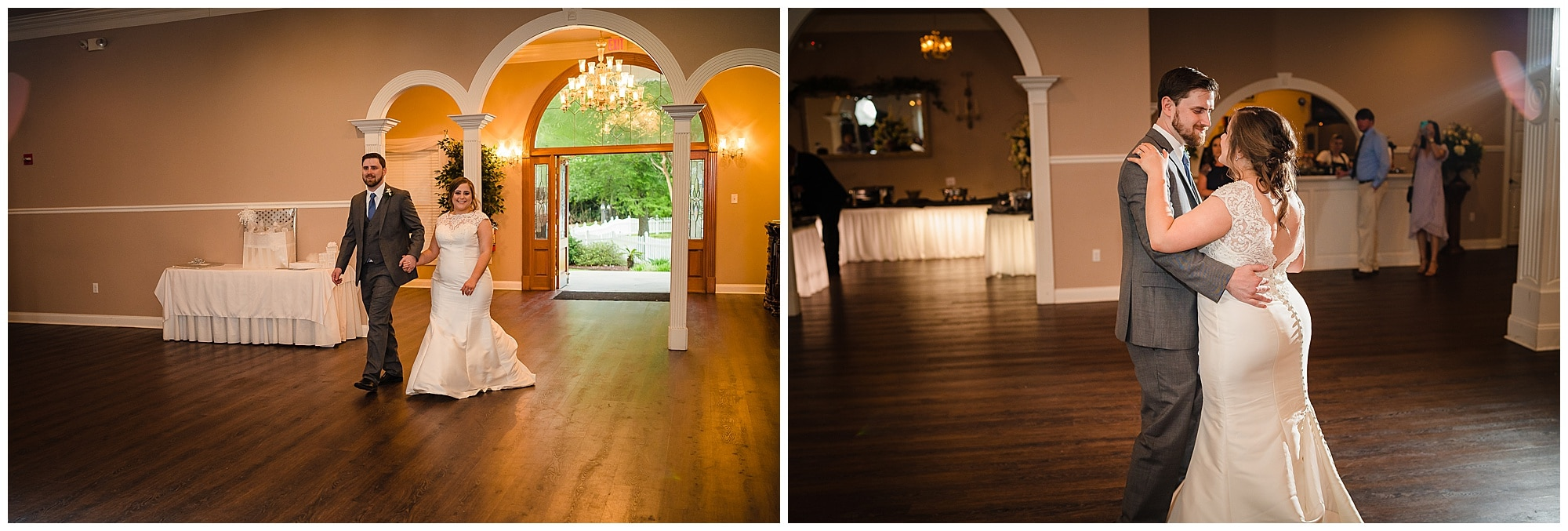 entrance and first dance at Forrest Grove Plantation Denham Springs