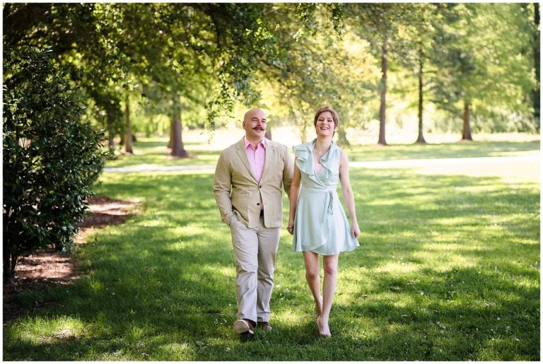 Baton Rouge LSU Botanic Gardens Engagement Session | Rebecca + Arlen