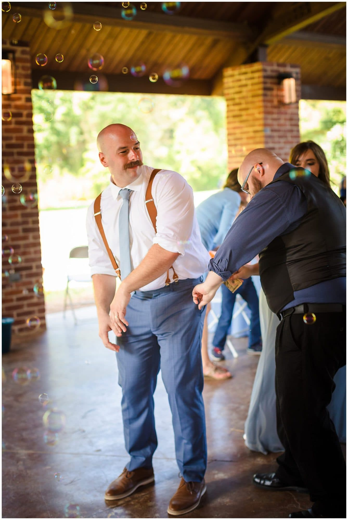 groom dancing Orangerie wedding in Baton Rouge