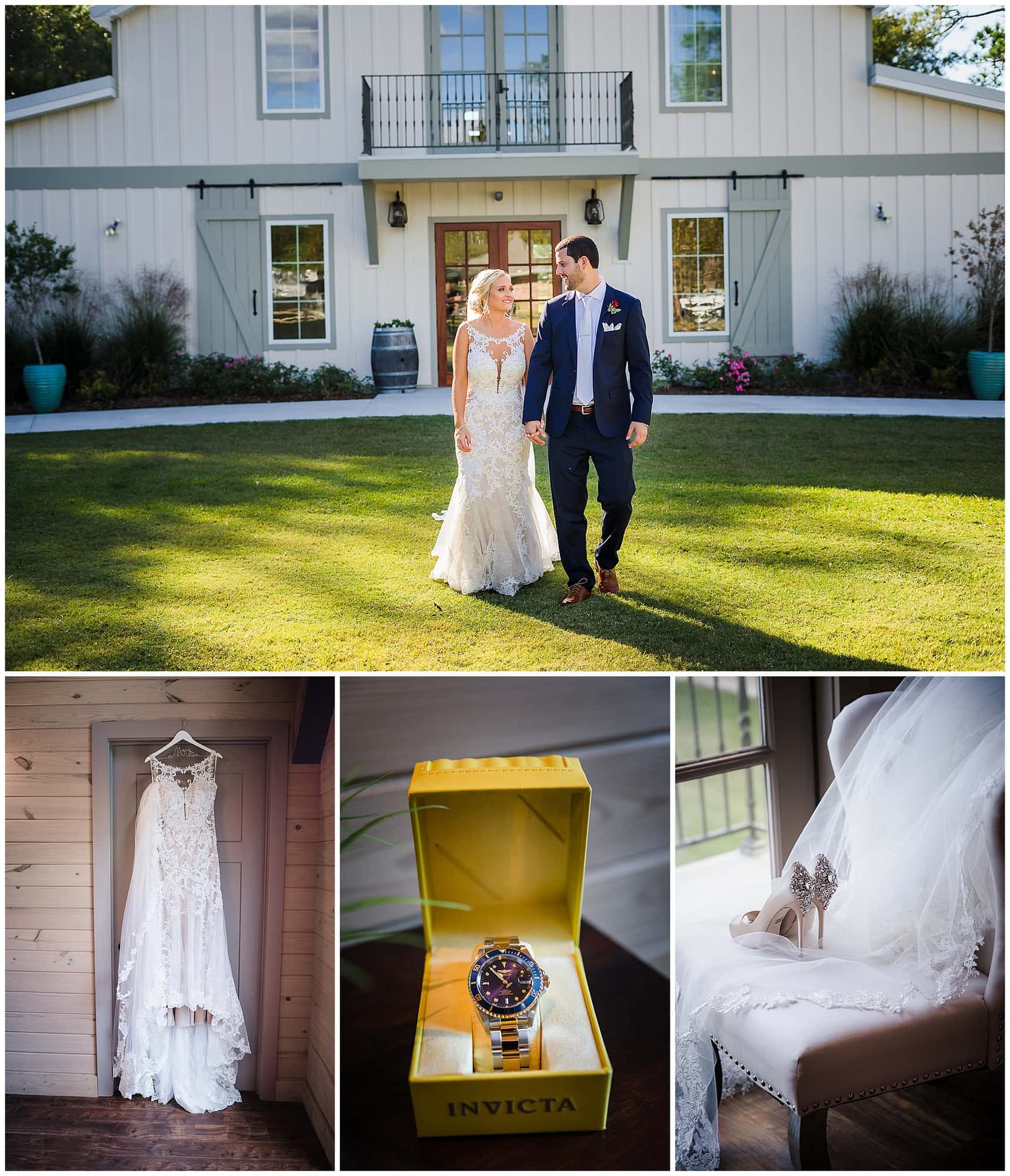wedding couple and details