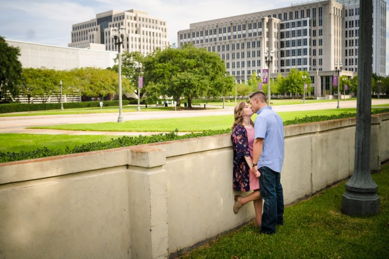 Downtown Baton Rouge Engagement Session | Hannah + Clayton