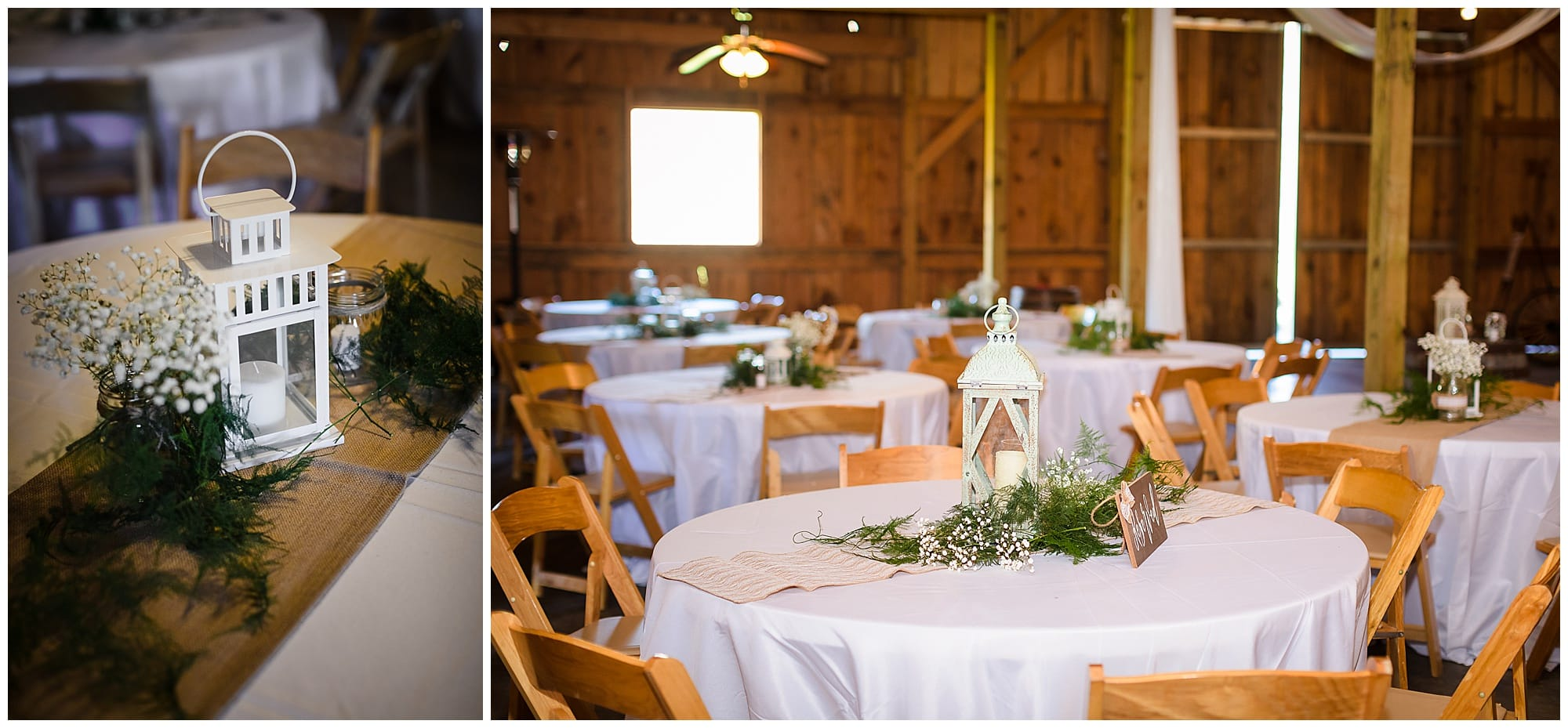 The Barn at TH Farm reception details