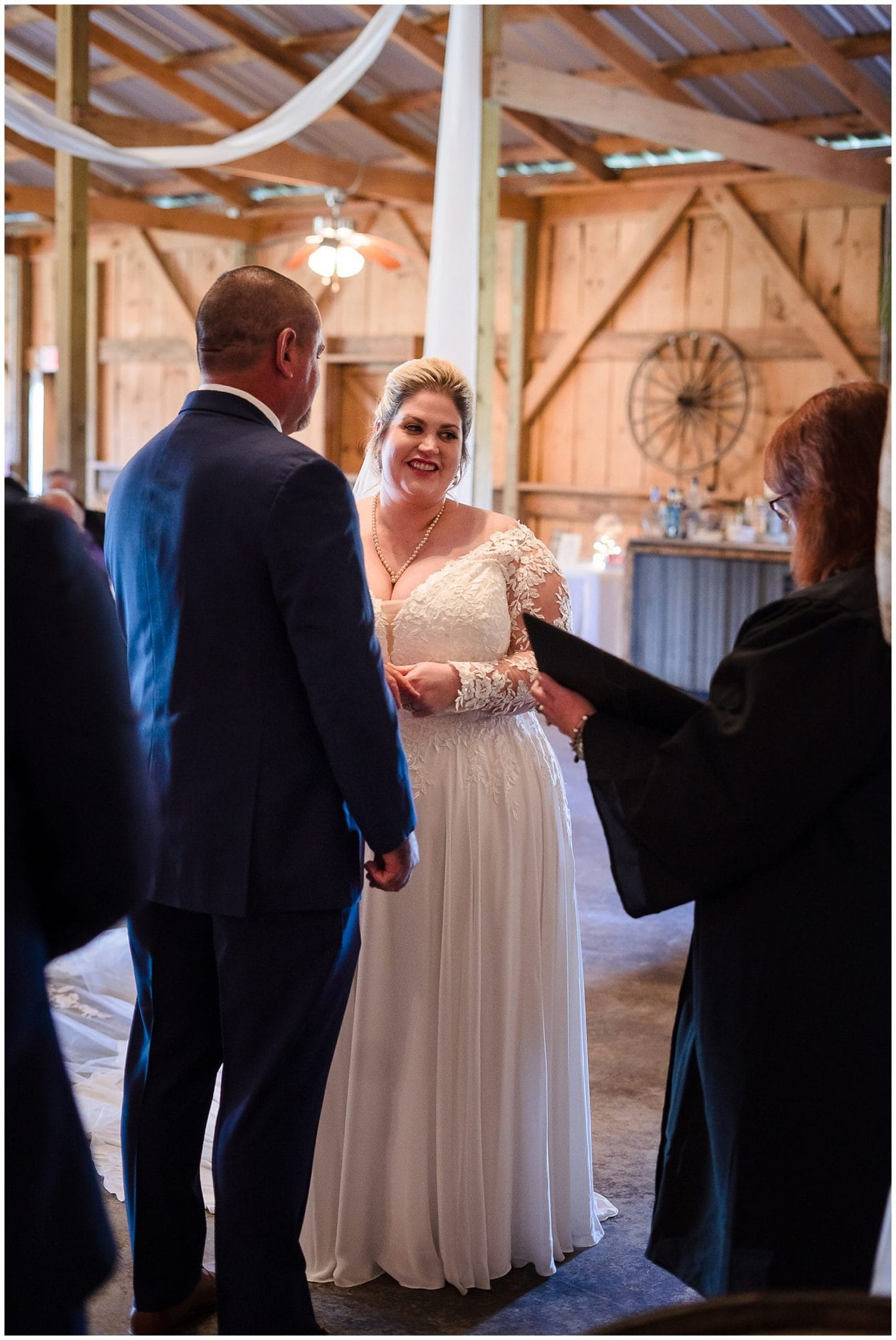 The Barn at TH Farm wedding ceremony