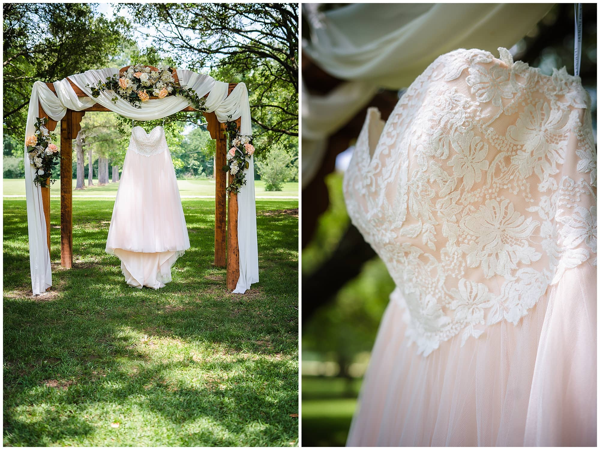 rustic Louisiana wedding wedding dress