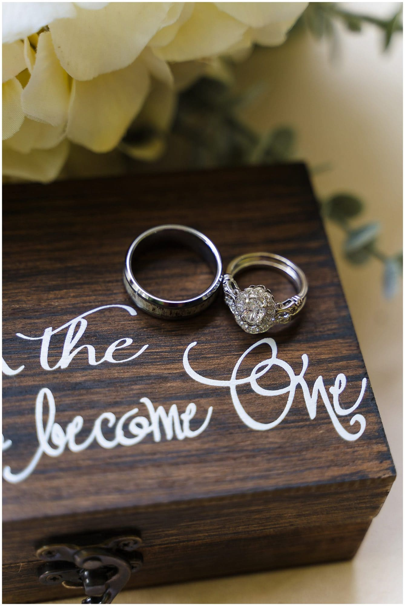 rustic Louisiana wedding wedding rings
