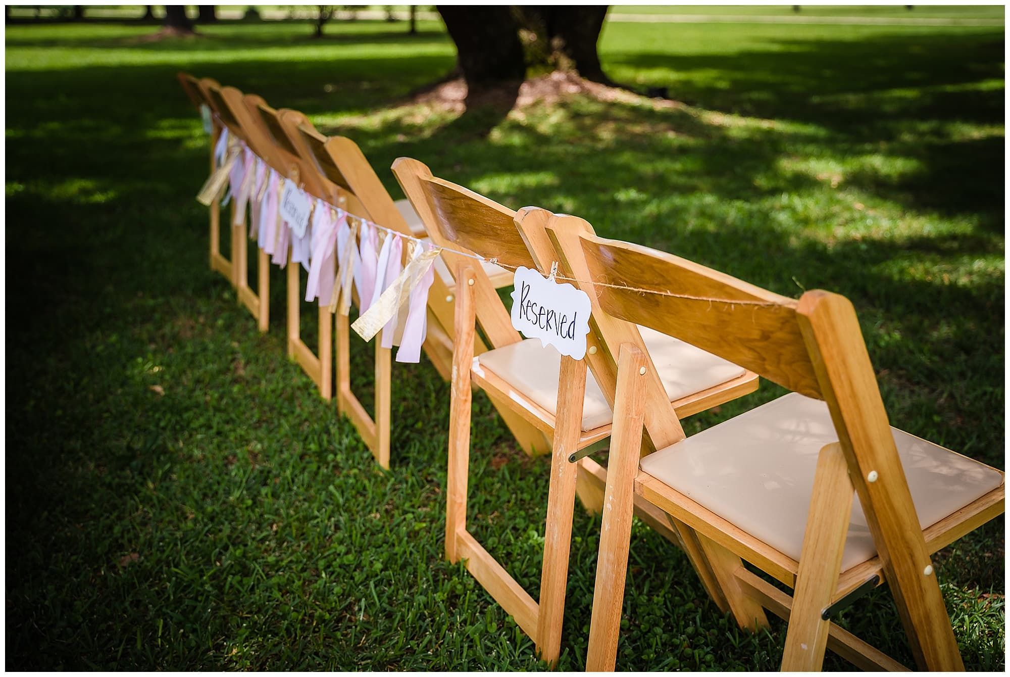 rustic Louisiana wedding chairs