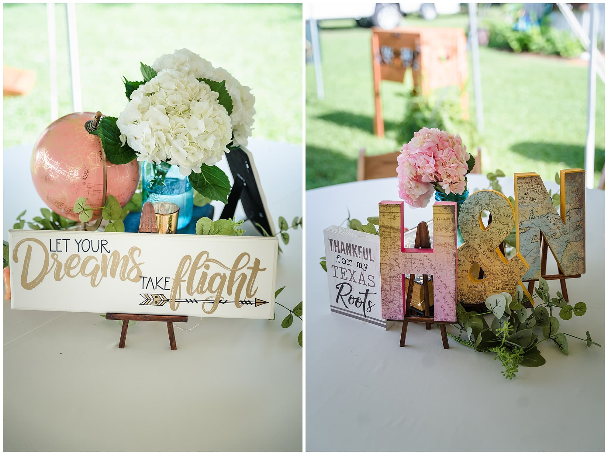 rustic Louisiana wedding table decorations