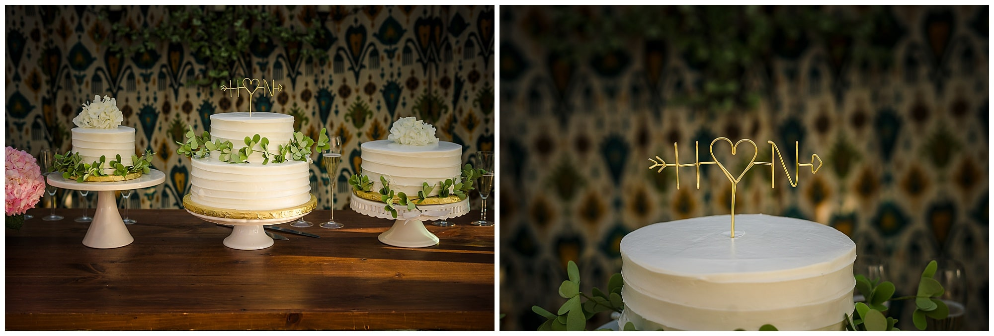 rustic Louisiana wedding wedding cake