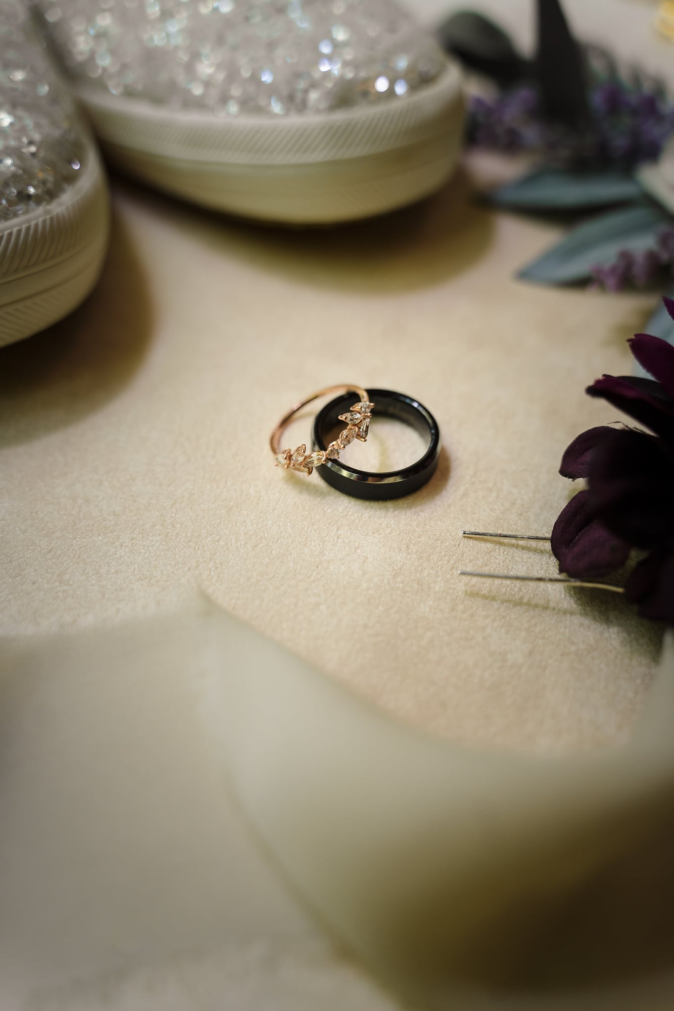 The Gatehouse Baton Rouge Wedding rings and other bridal details