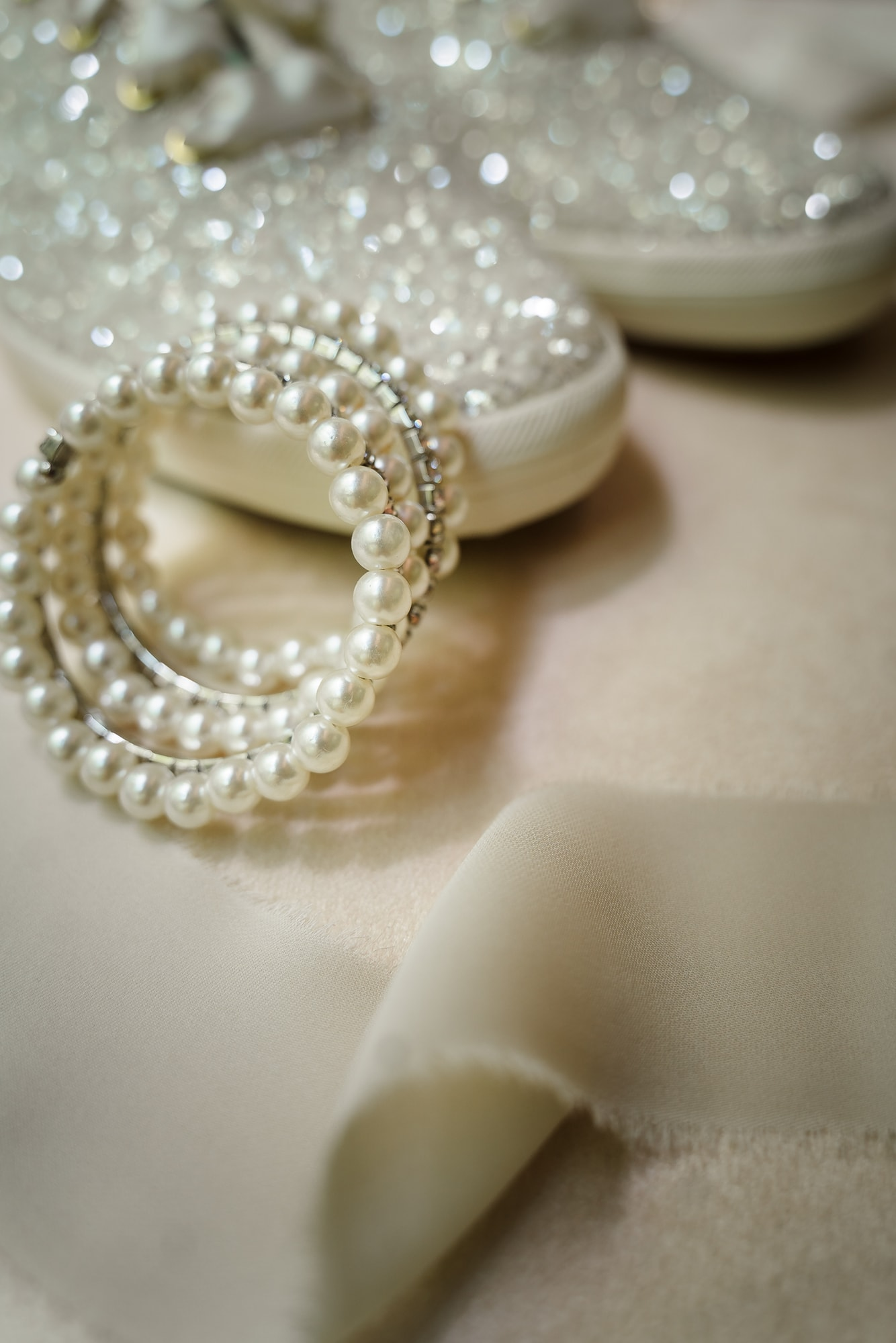 The Gatehouse Baton Rouge Wedding bracelet and shoes