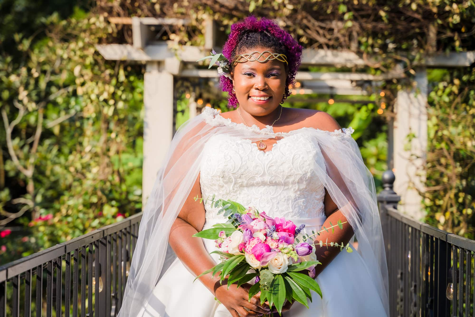 The Gatehouse Baton Rouge Wedding bridal portrait