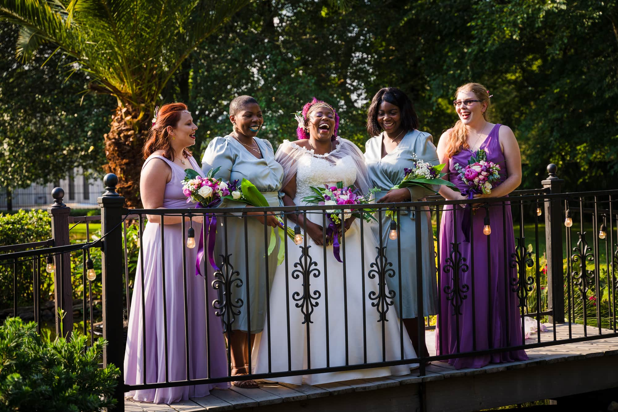 The Gatehouse Baton Rouge Wedding bridal party portrait