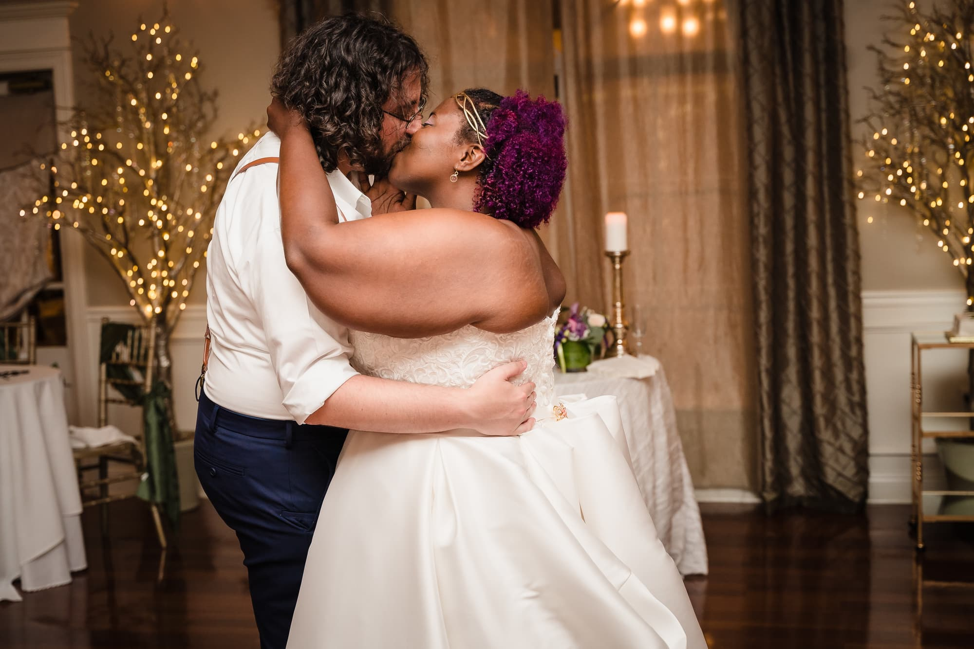 The Gatehouse Baton Rouge Wedding kissing first dance