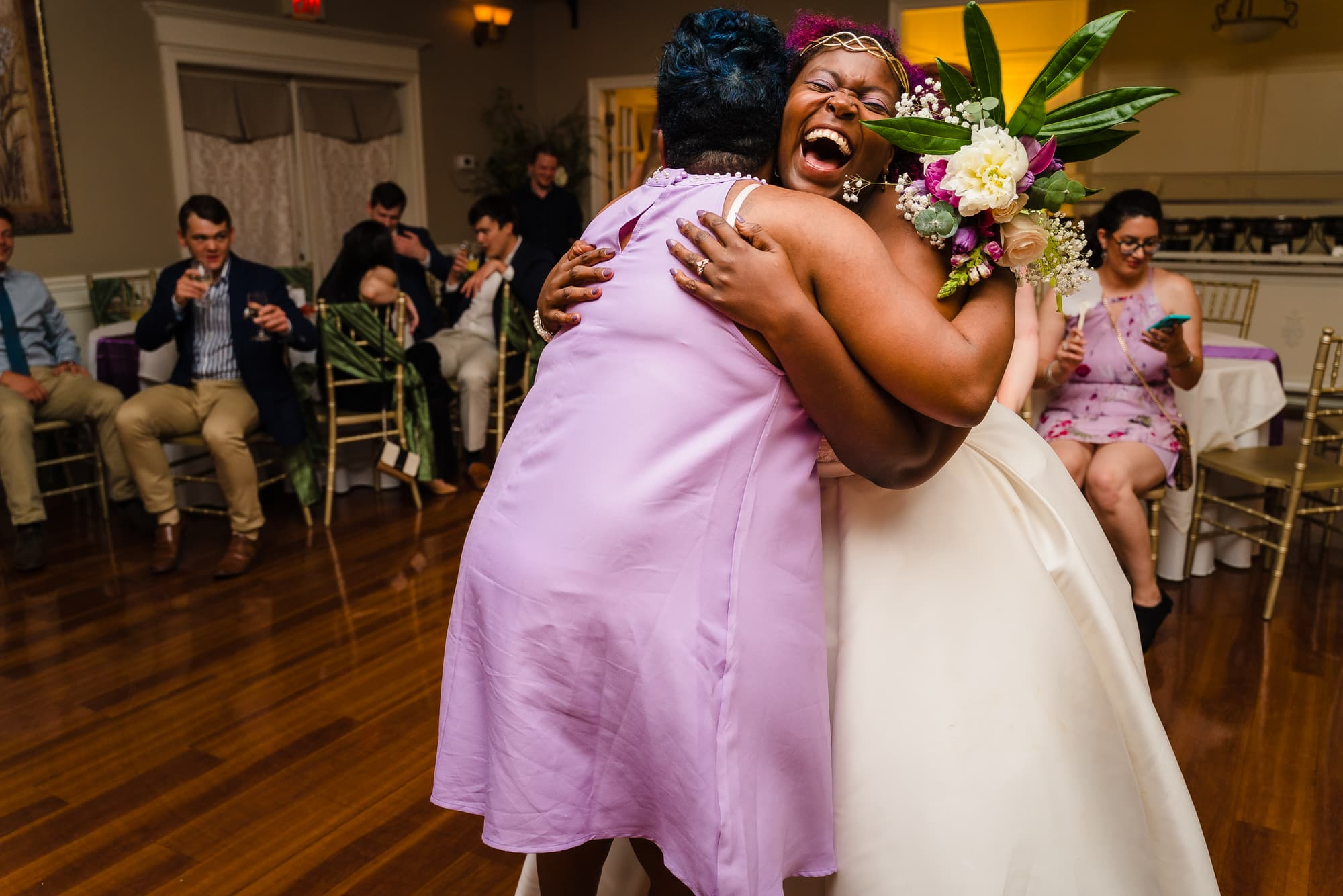 The Gatehouse Baton Rouge Wedding after the bouquet toss