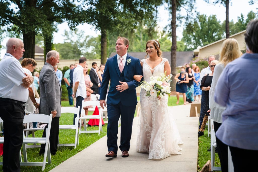 Parc 73 wedding bride and father